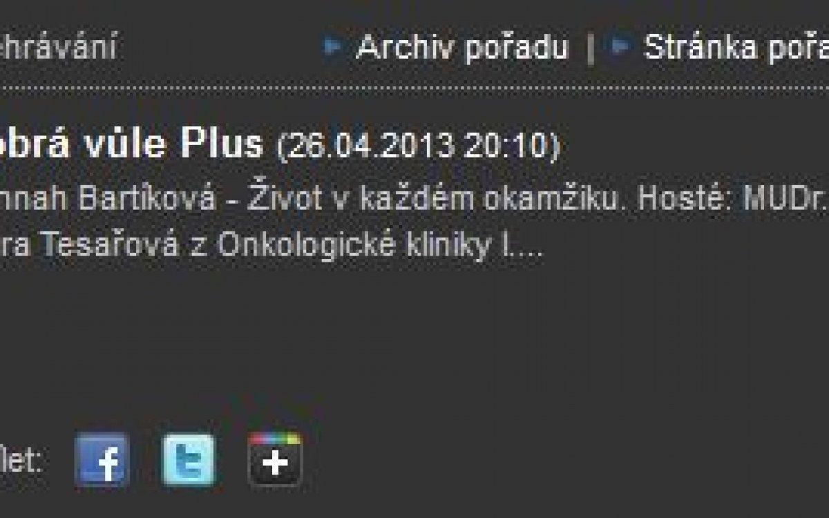 Český rozhlas Plus / duben 2013