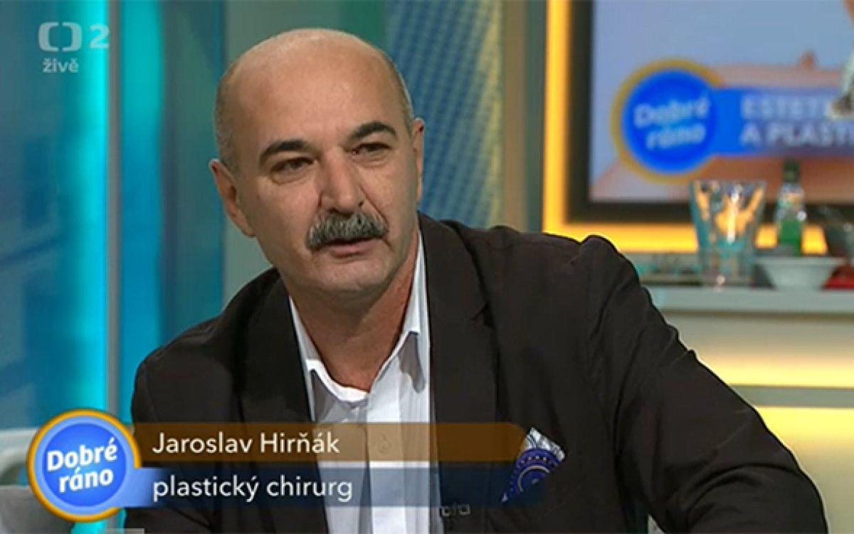 MUDr. Jaroslav Hirňák v pořadu Dobré ráno ČT